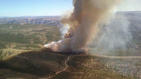 Imagen del incendio de Ejulve (Teruel)