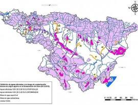 Mapa nitratos cuenca del Ebro