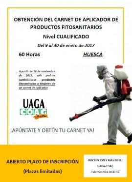 Cartel curso carnet fitosanitarios Huesca