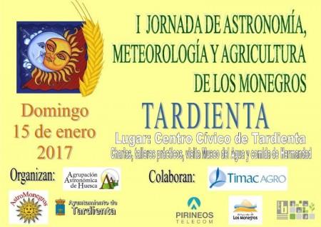 Cartel I Jornada de Astronomía, Meteorología y Agricultura de los Monegros