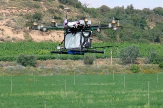 Dron tratamiento fitosanitario