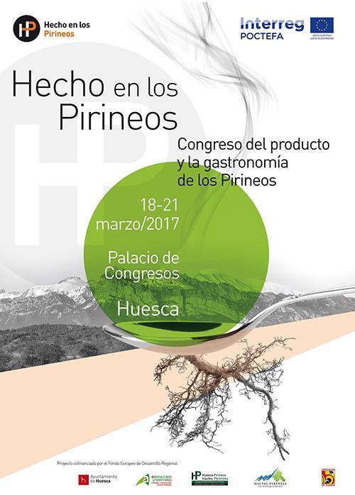 Cartel I Congreso Producto y Gastronomía de los Pirineos