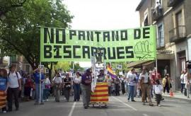 Protesta en contra del Embalse de Biscarrués