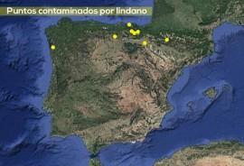 Mapa de lindano en España