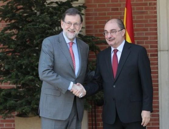 Javier Lambán con Mariano Rajoy