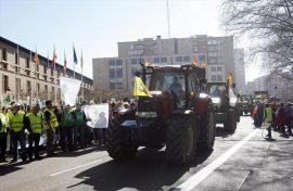 Manifestación de tractores en Zaragoza