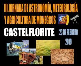 Cartel III Jornada Astronomía, meteorolgía y agricultura